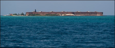 Fort Jefferson in the distance