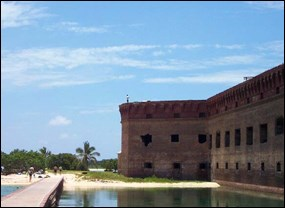 Sunny skies over Fort Jefferson