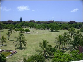 Historic parade grounds at Fort Jefferson