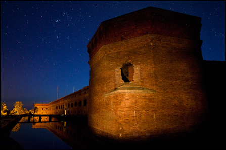 Starscape over Fort Jefferson