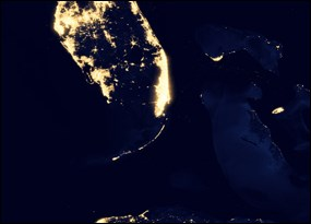 Lightscape at night in south Florida and beyond