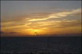 Sunset viewed from the terreplein of Fort Jefferson