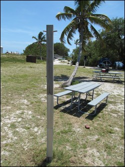 Hanging pole in campground