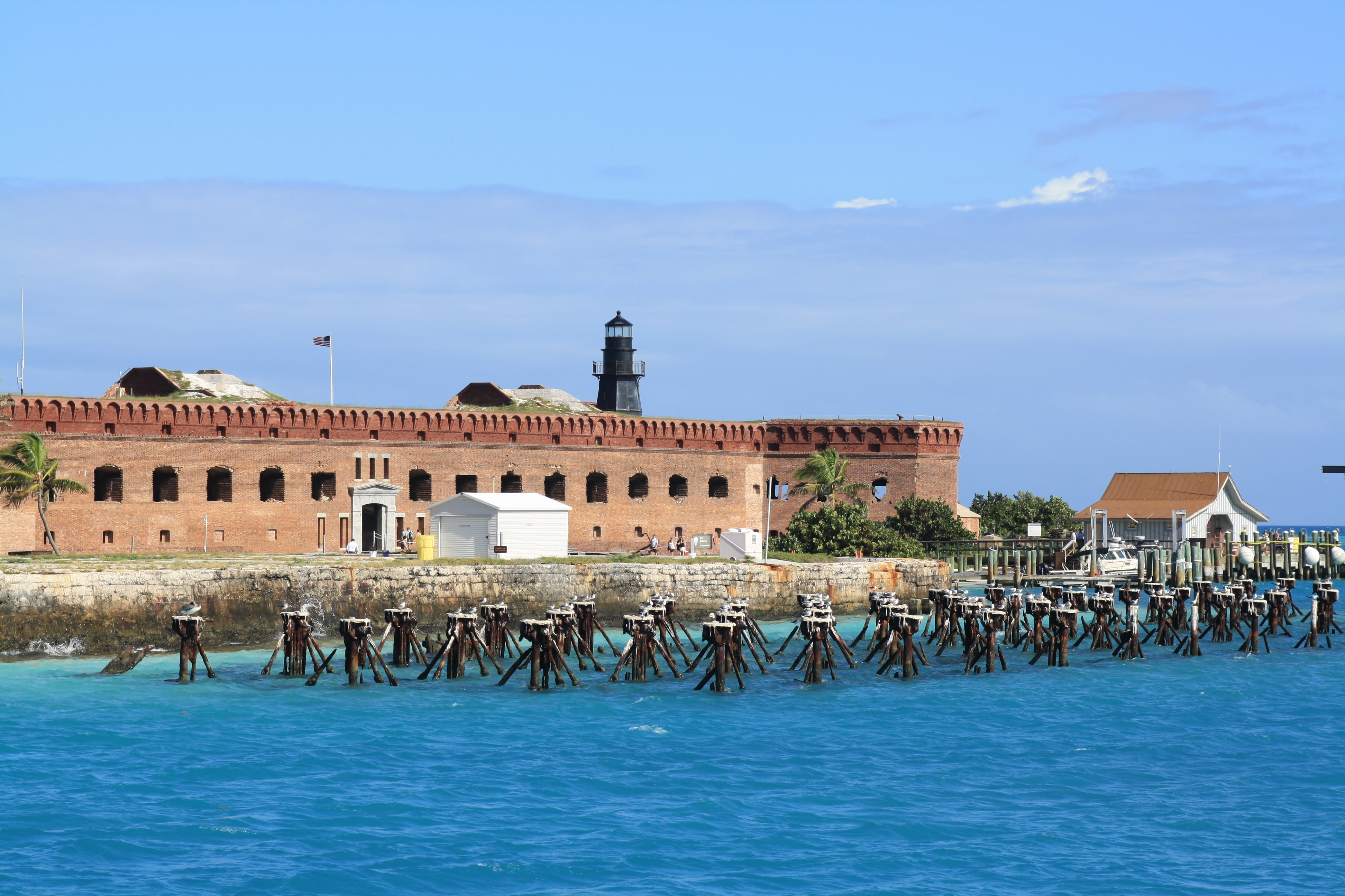 A lside view of Fort Jefferson in Garden Key