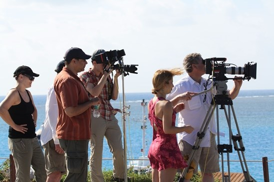 Filming Crew at Dry Tortugas