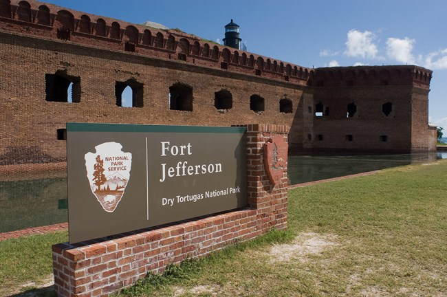 Fort Jefferson Welcome Sign