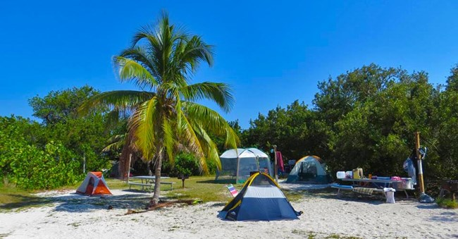 Campsites at Garden Key