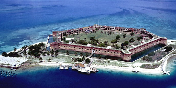 Accessibility Dry Tortugas National Park US National Park - Boat accessibility map us