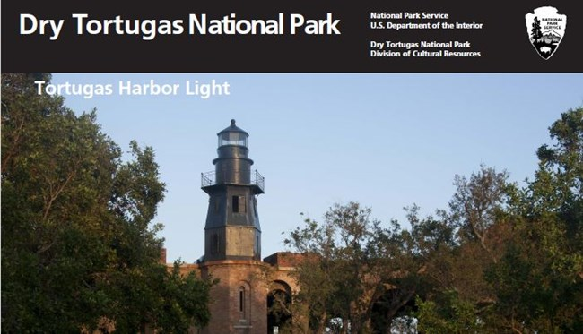 image of the Tortugas Harbor light as seen from inside the fort