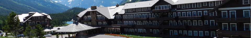 Many Glacier Hotel at Glacier National Park, Montana