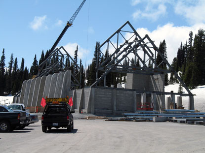 Structural Steel erection for the Henry M. Jackson Memorial Visitor Center at Mount Rainier National Park, Washington