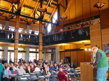 Grand Opening ceremony for the Henry M. Jackson Memorial Visitor Center at Mount Rainier National Park, Washington.