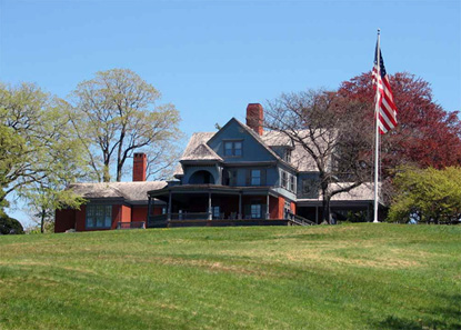 photo of Theodore Roosevelt's home at Sagamore Hill National Historic Site.