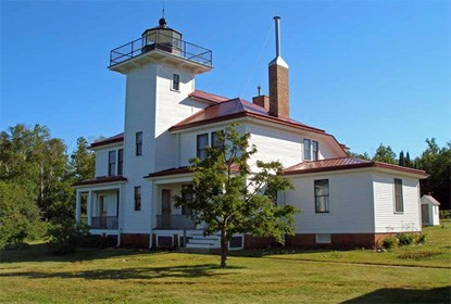 photo of Raspberry Island Light Station Lighthouse and Keeper's Quarters at Apostle Islands National Lakeshore