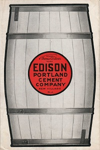 Edison Portland Cement advertisement