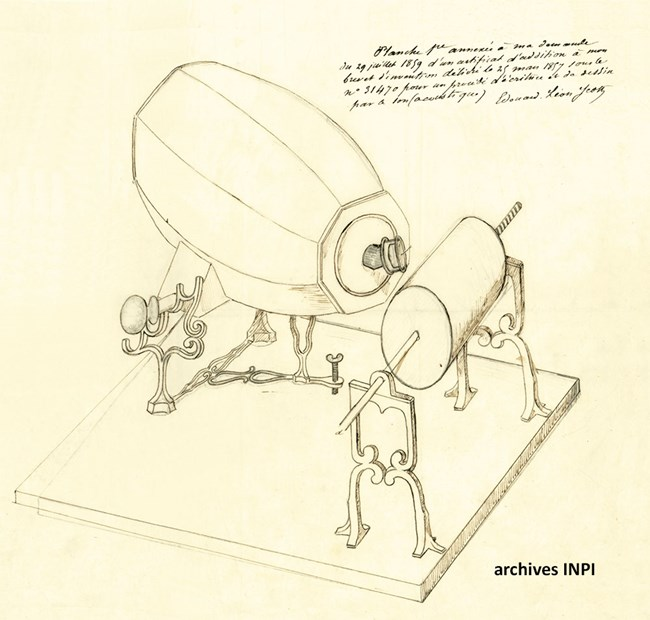 Scott's improved phonautograph 1859.