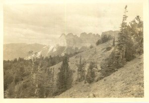 Picture of a mountain most likely taken by Theodore Edison.