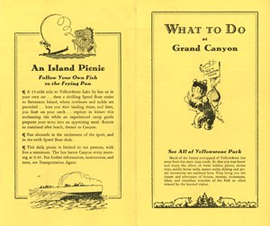 Brochure for What to Do at the Grand Canyon