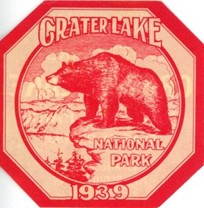 Window sticker for Crater Lake.