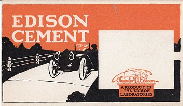 Edison Cement Advertisement
