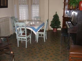 Servants dining room with original
