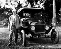 Edison and One of His Cars