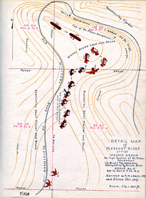 Ellison Orr Map of Marching Bear Mound Group