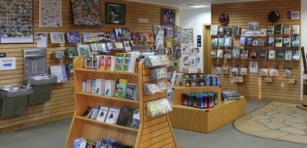 View of bookstore located in the Visitor Center