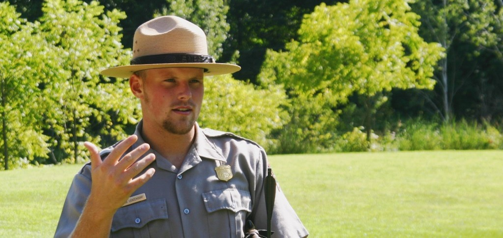 Ranger giving interpretive talk