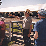 Park Ranger conducting an Exploring Eisenhower farm tour.