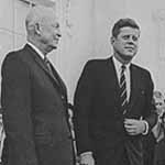 President Eisenhower with President-elect Kennedy. Courtesy of Barbara Eisenhower.