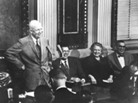 President Eisenhower at press conference