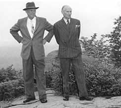 Ike and Field Marshal Montgomery touring Gettysburg battlefield.