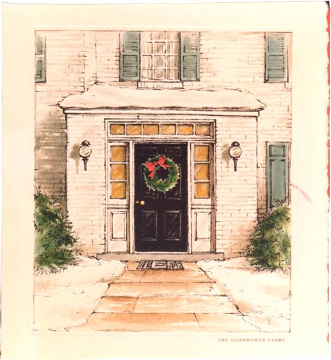Eisenhower home Christmas card