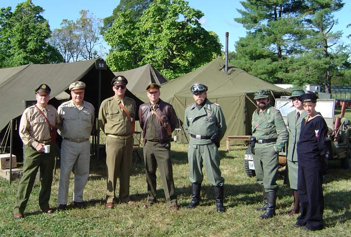 Living historians, WWII encampment, WWII Weekend