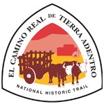 El Camino Real logo featuring oxen pulling a cart in a sunset