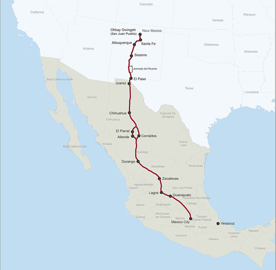 El Camino Real de Tierra Adentro Maps El Camino Real de Tierra Adentro National Historic Trail