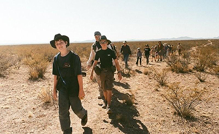 boy scouts hike the jornada del muerto