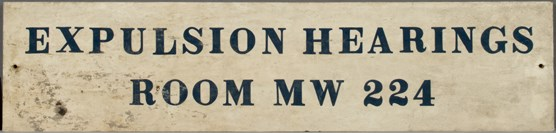 Detention sign displayed on Ellis Island