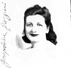 Josephine Garzieri (later Calloway), from her certificate of citizenship.