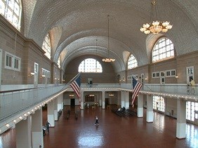 Ellis Island's Registry Room or Great Hall from the Third Floor Balcony