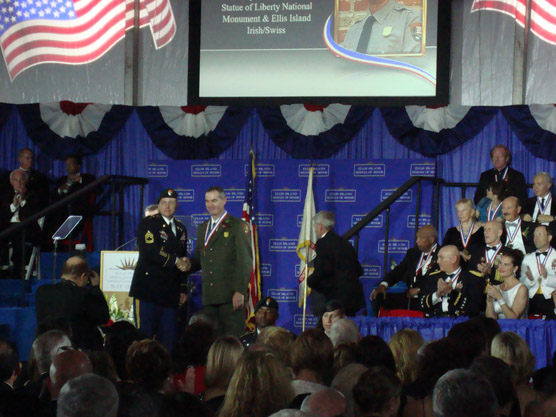 Luchsinger receives Ellis Island Medal of Honor