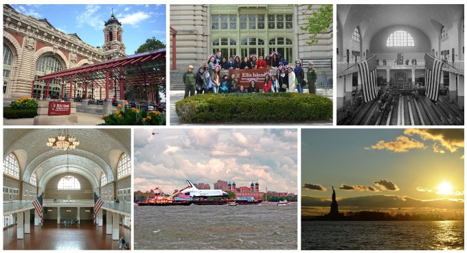 Ellis Island Photo Collage