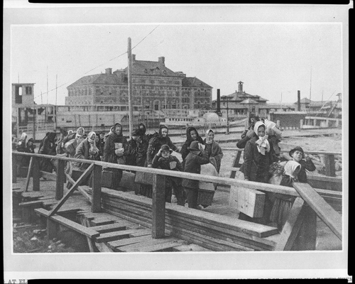 Immigrants arriving at Ellis Island