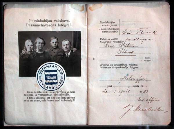 Image of a family passport
