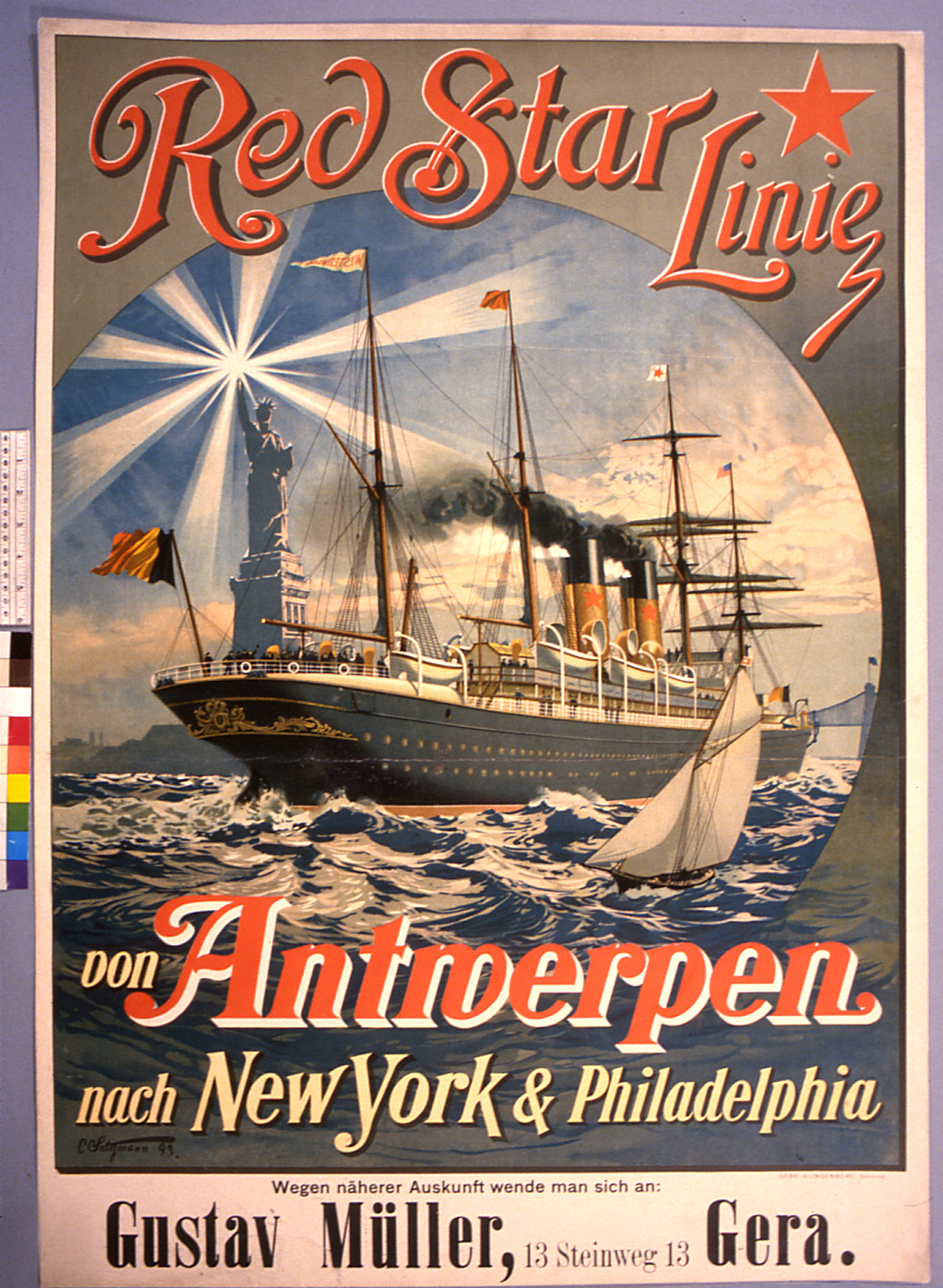 Historic Red Star Line Poster