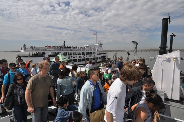Seeing Ellis Island should not be rushed. Check the ferry schedule ahead of time, so that you know when to arrive and when you want to leave.