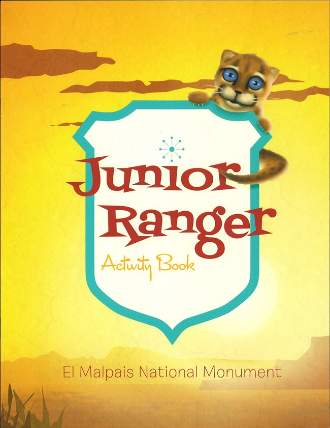 The front page of the El Malpais Junior Ranger Activity Book.