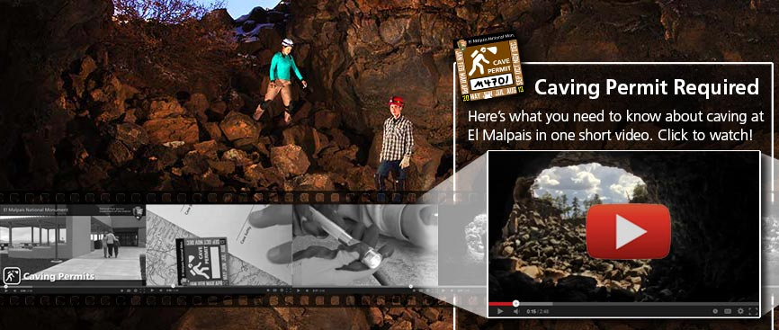 Click to watch a video about caving at El Malpais