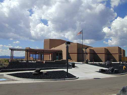 The visitor center in Grants